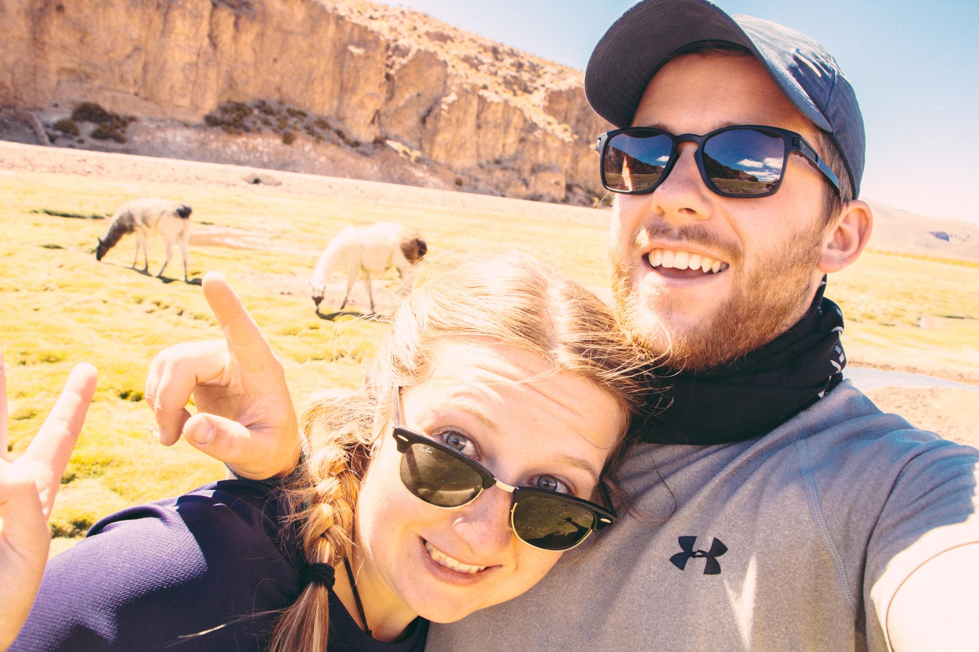 Alis and Alex Llama Selfie