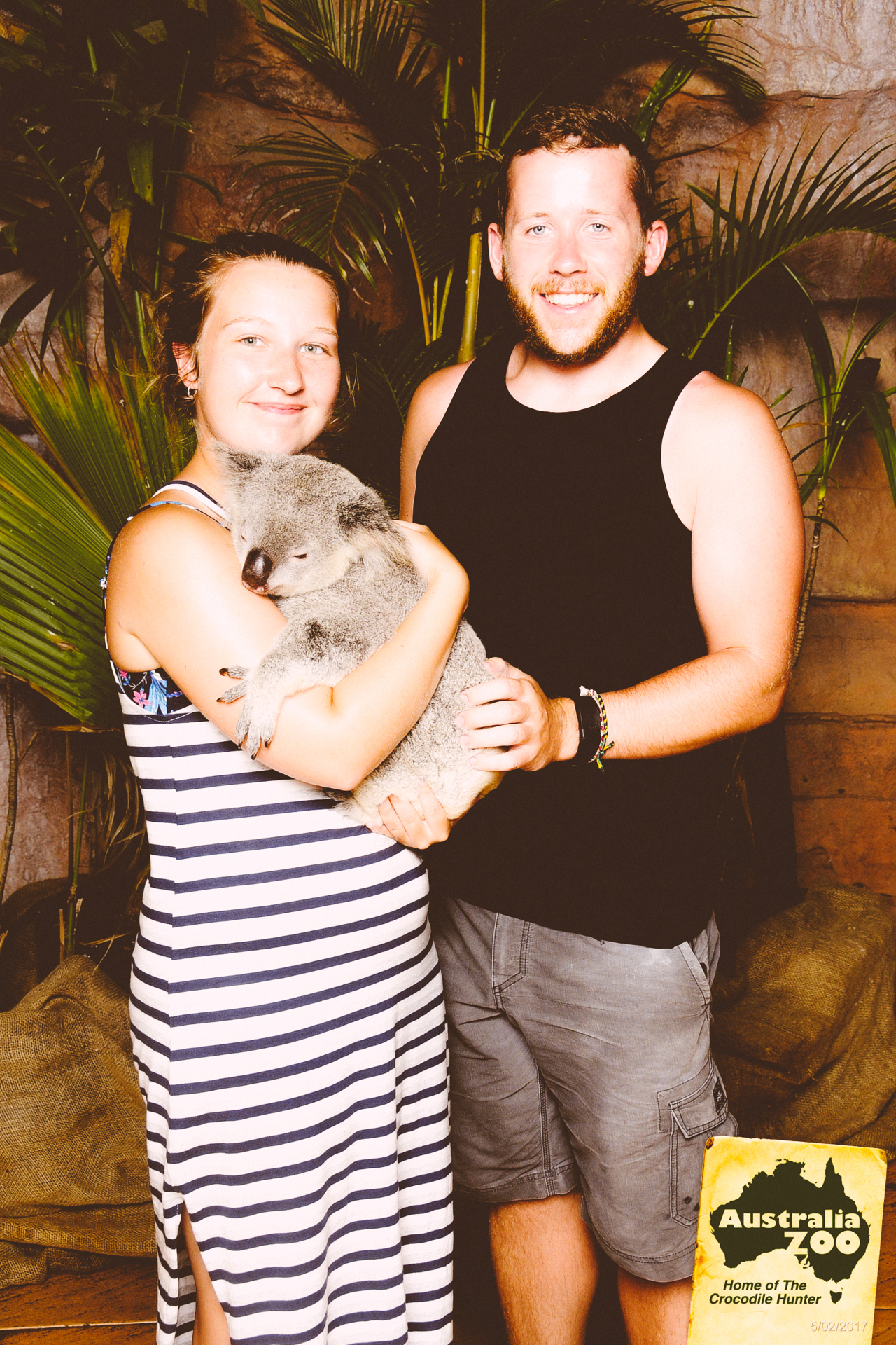 Alis holding Koala at Australia Zoo