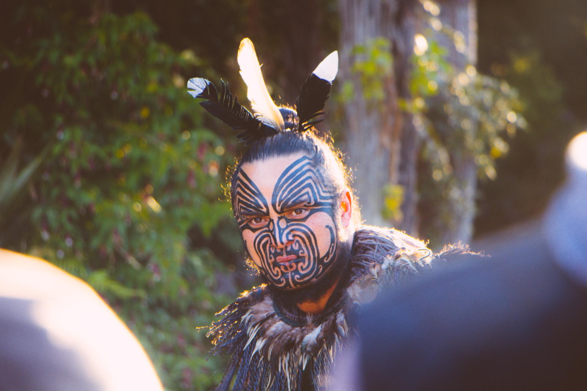 Tamaki Maori Village ceremony stare