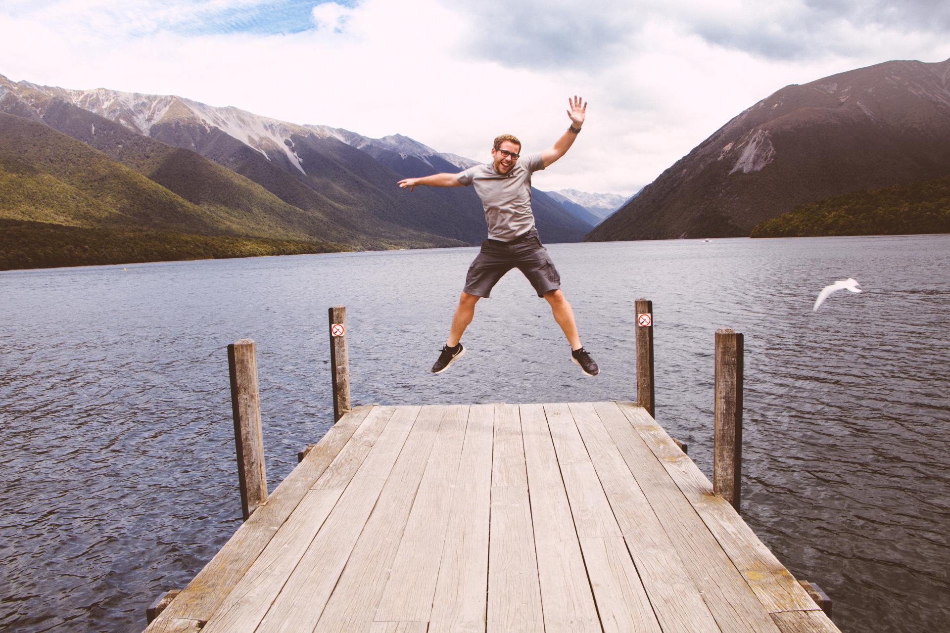 Alex on Lake Rotoiti Pier