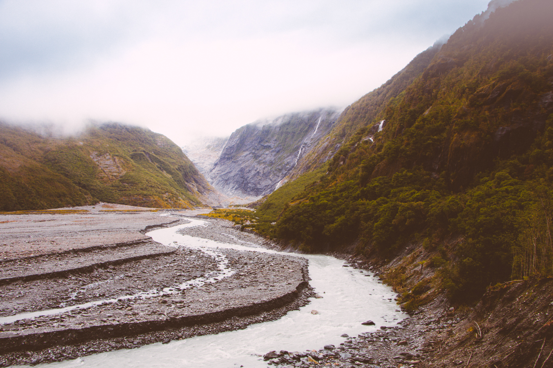 River from Franz Josfer Glacier