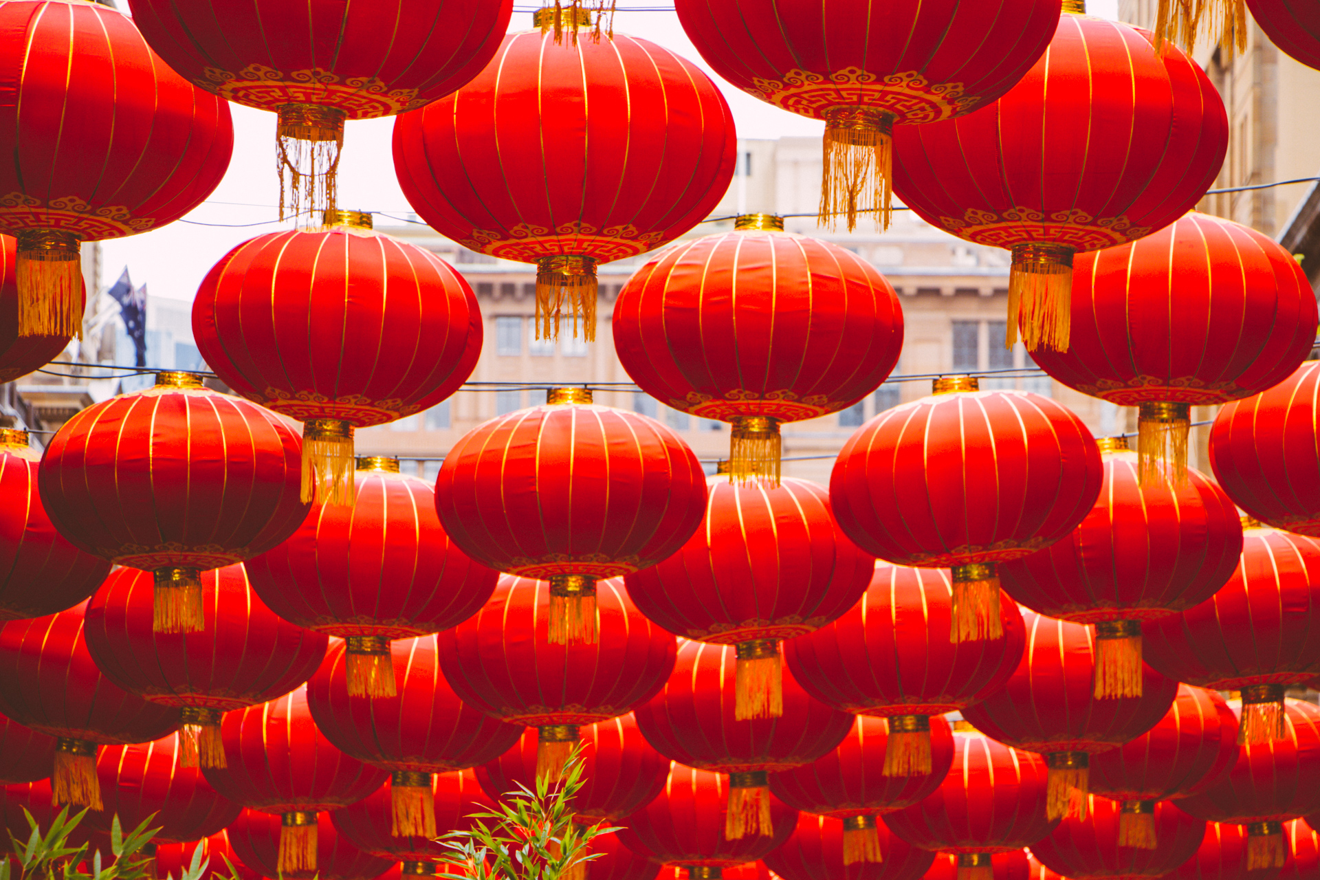 Chinese red lanterns Sydney Australia