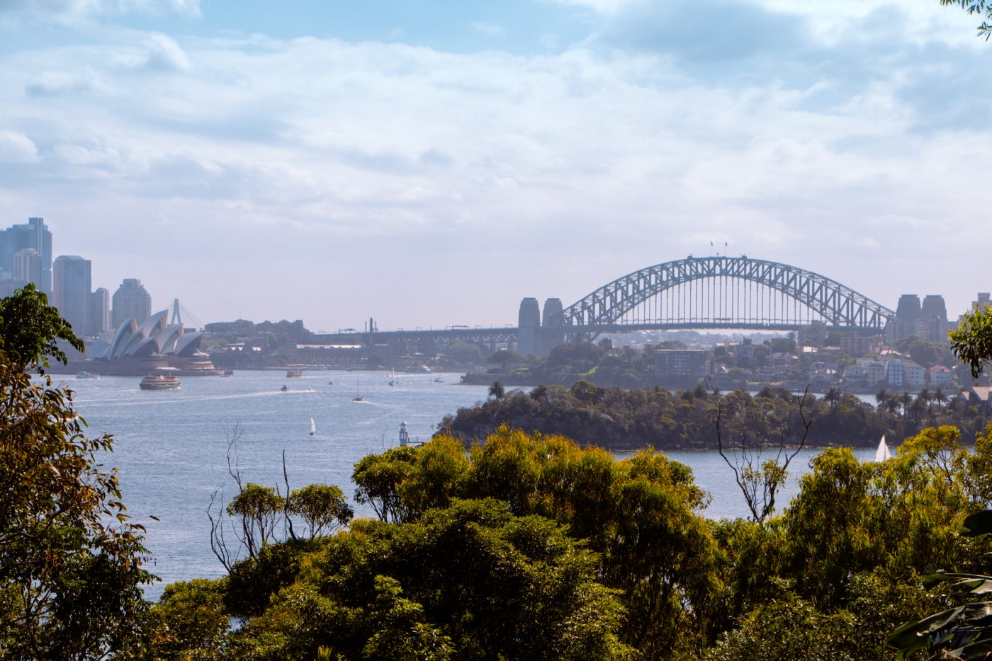Sydney Zoo overlooking Sydney harbour bridge and bay