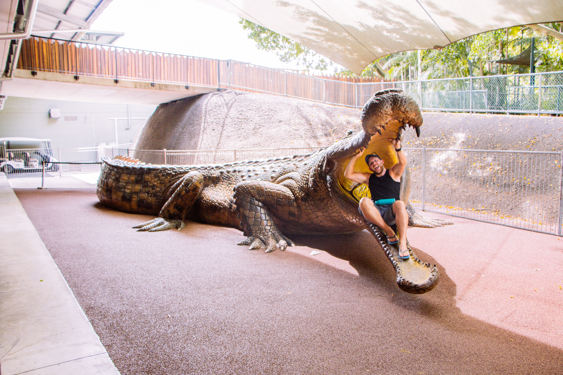Worlds biggest crocodile at Australia Zoo - Steve Irwin