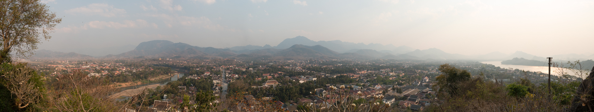 Panoramic from Mount Phousi Luang Prabang
