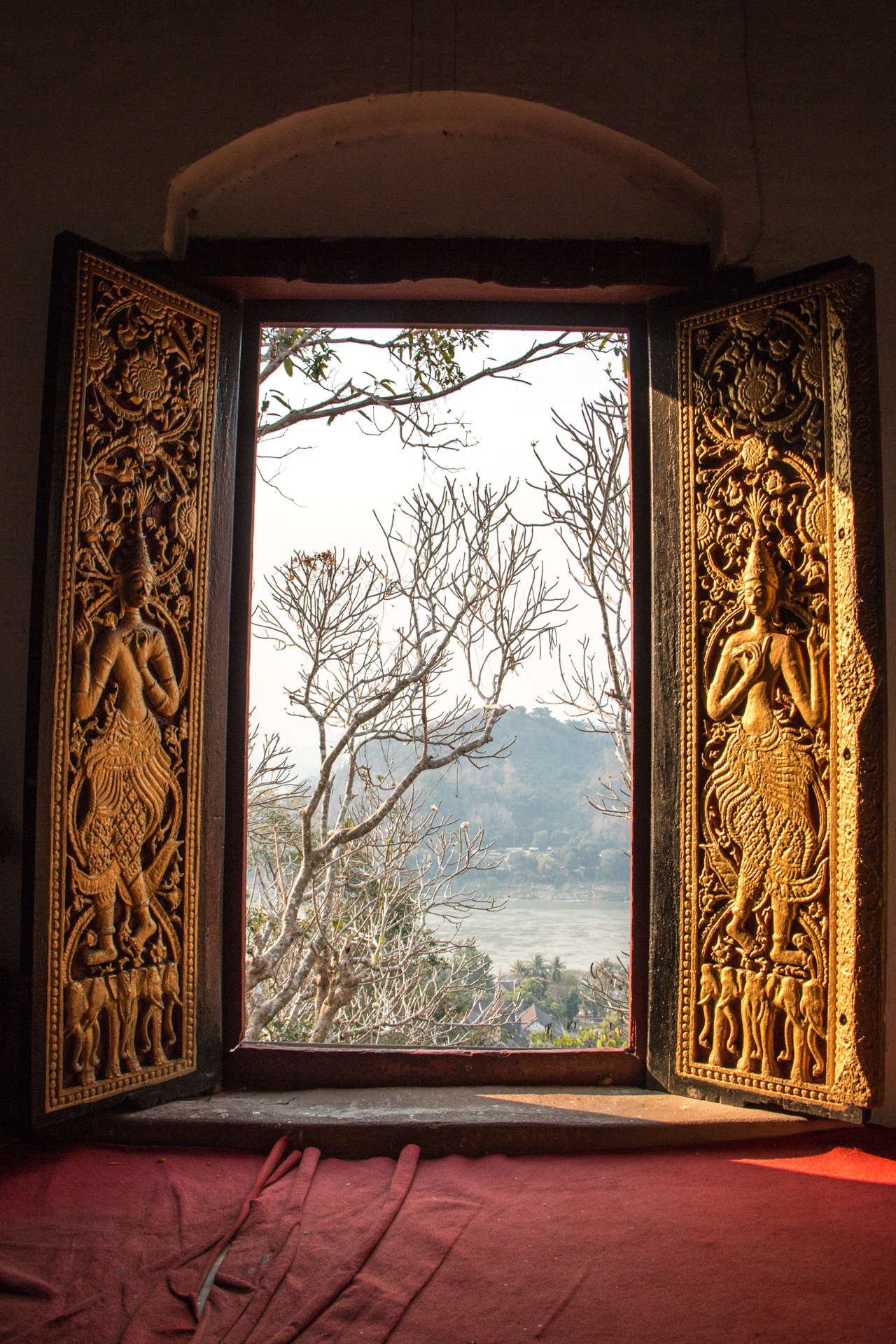 Window From Mount Phousi Temple