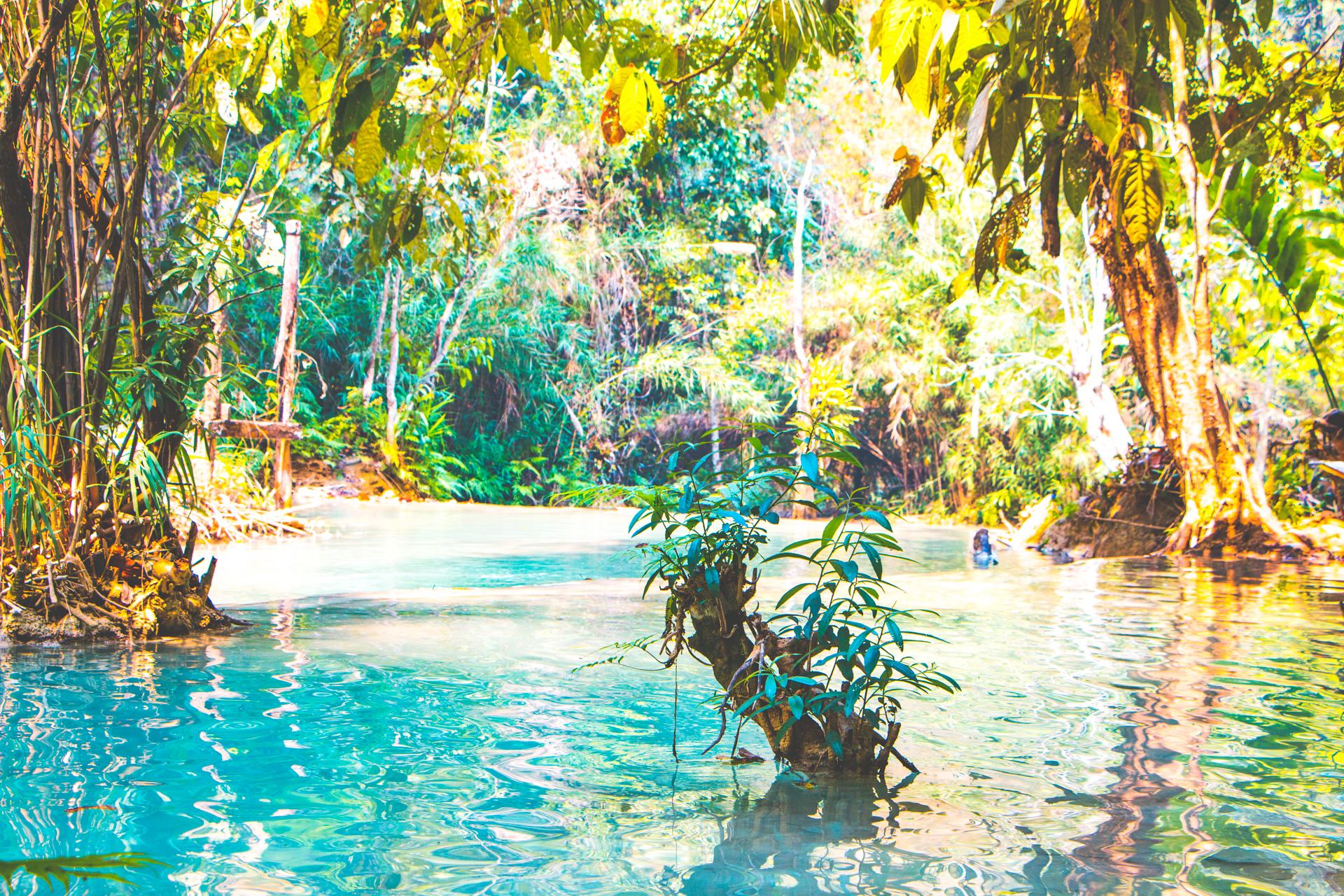 Kuang Si Falls pool Luang Prabang
