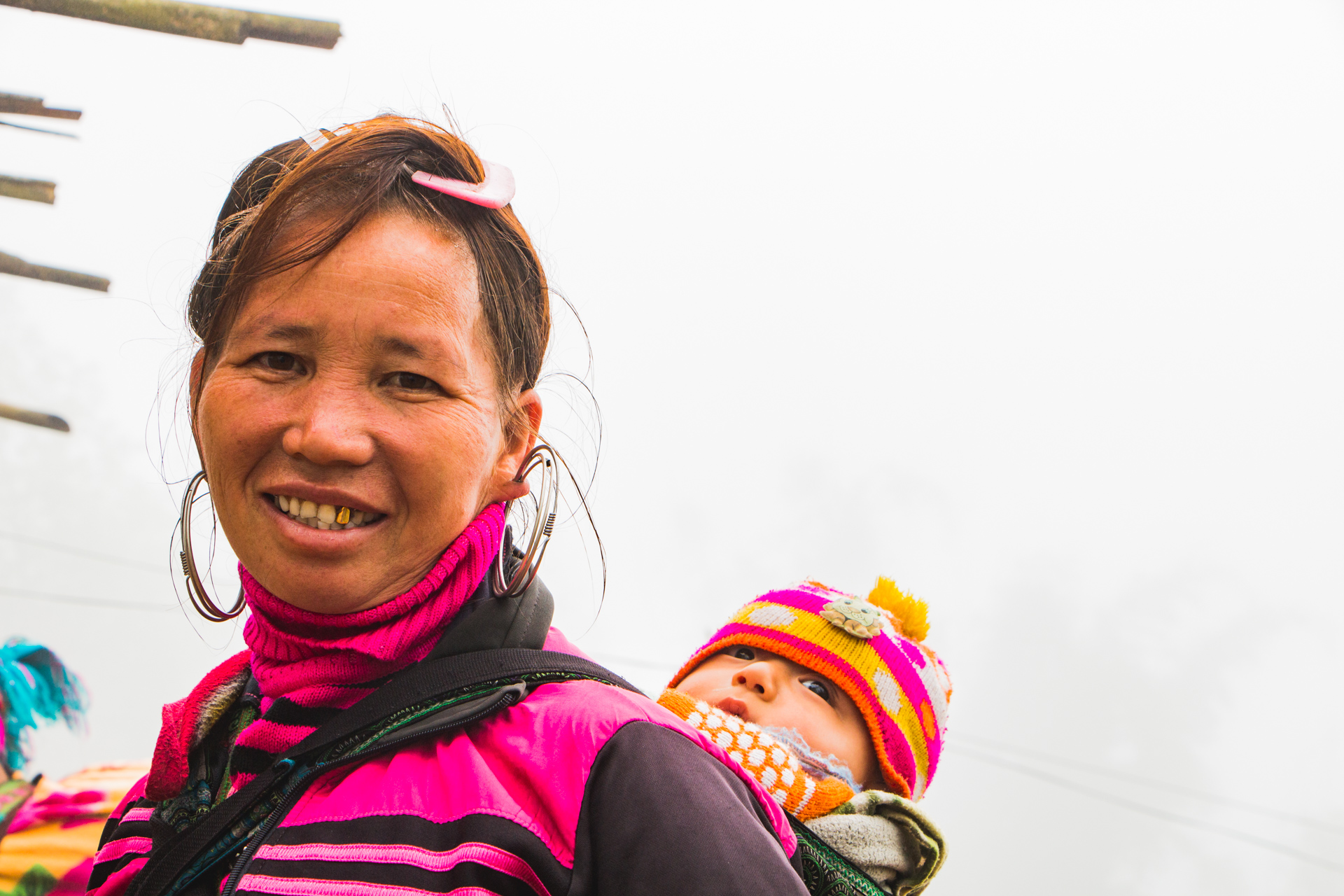 Local Villager with Baby in Sapa, Vietnam