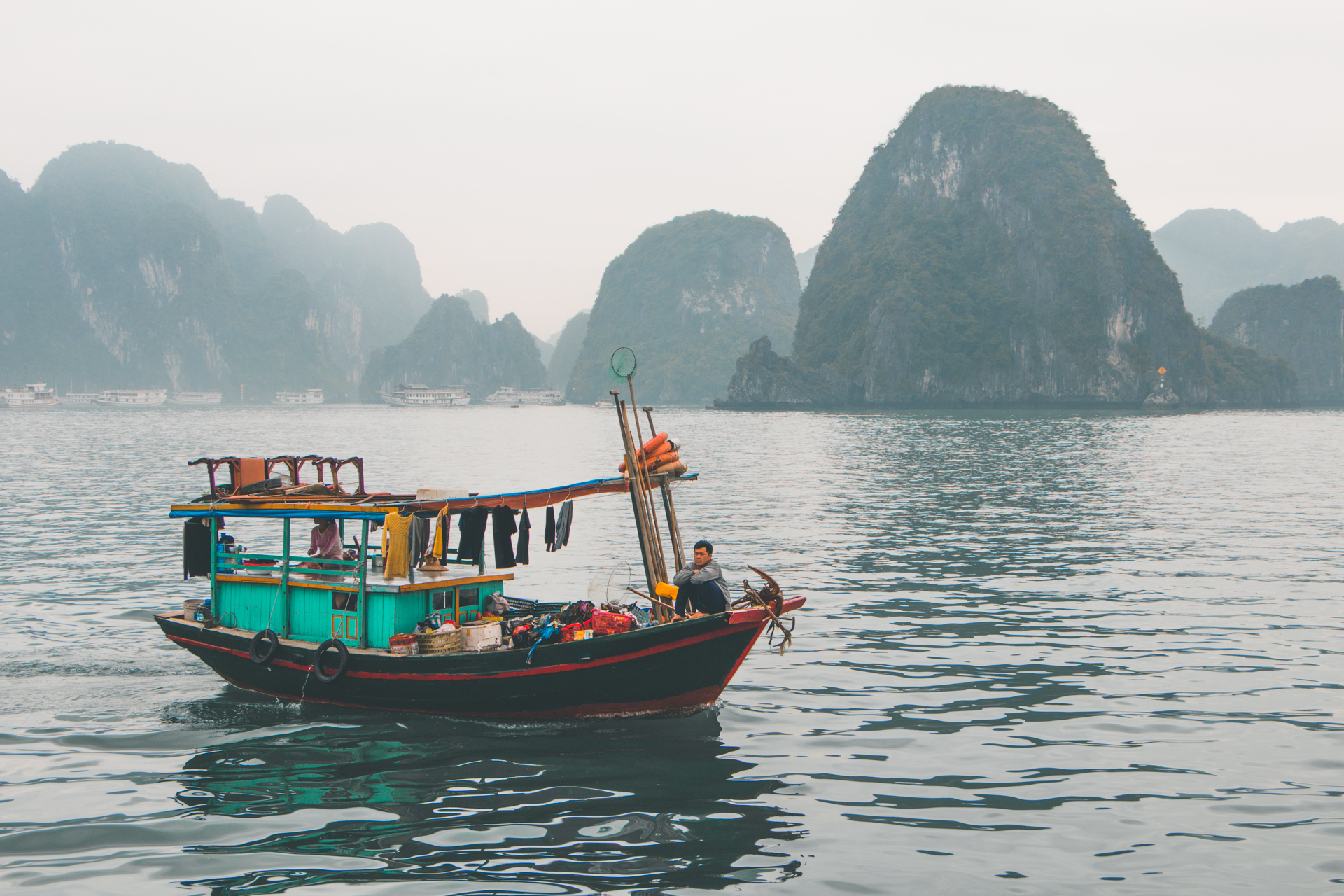 Ha Long Bay Local Fishing Boat